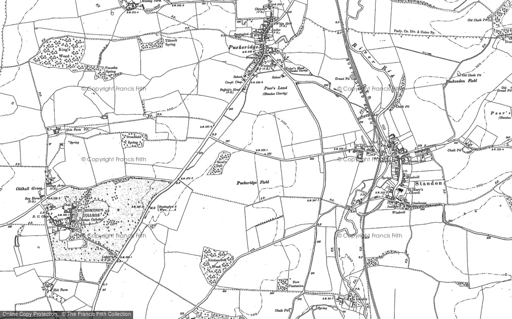 Old Map of Historic Map covering Latchford in 1896