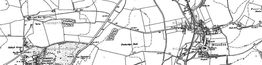 Old map of Standon in 1896
