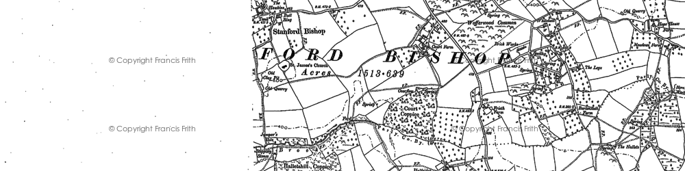 Old map of Wofferwood Common in 1885