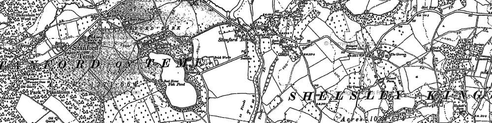 Old map of Stanford Bridge in 1883