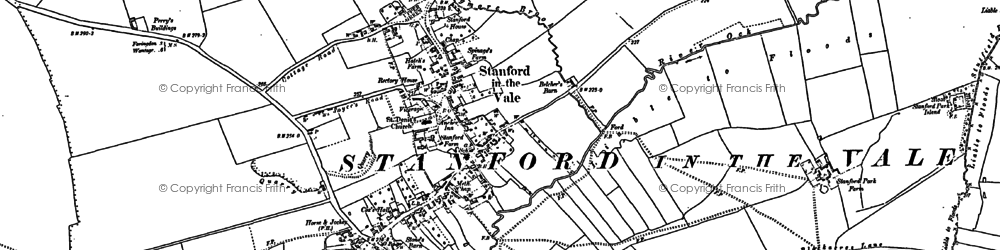 Old map of Stanford in the Vale in 1898