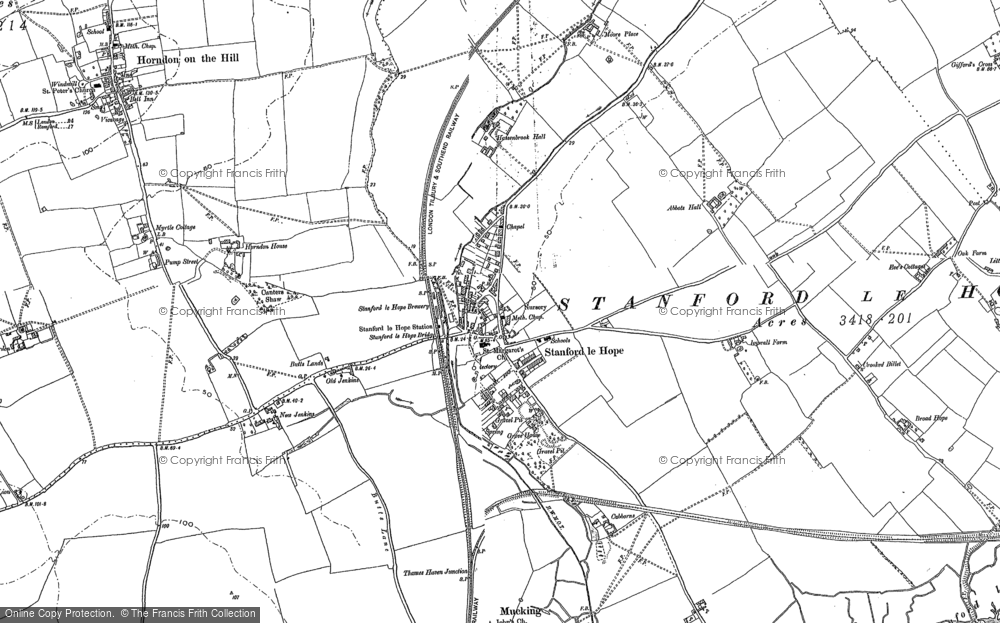 Map of Stanford-le-Hope, 1895