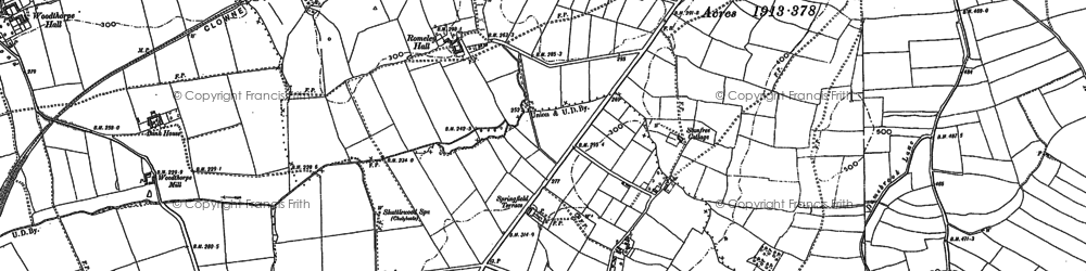 Old map of Oxcroft Estate in 1884