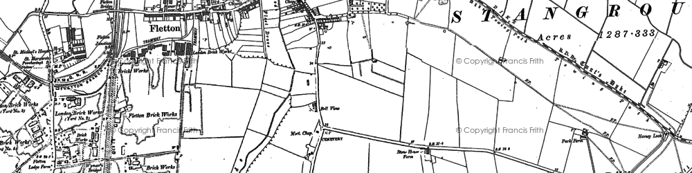 Old map of New Fletton in 1887