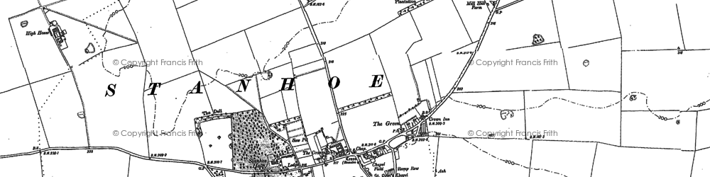 Old map of Stanhoe in 1885