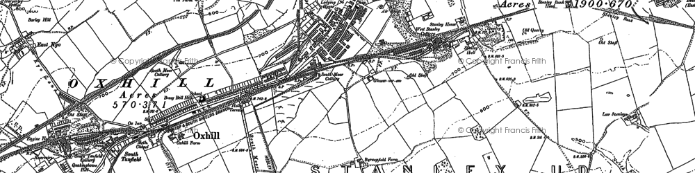 Old map of Stanley in 1895