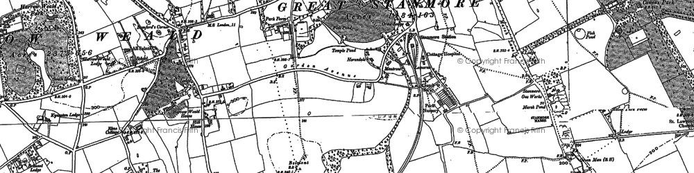 Old map of Stanmore in 1895