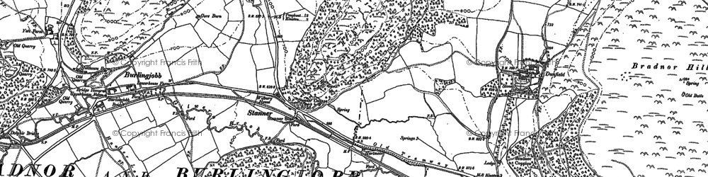 Old map of Whet Stone in 1902