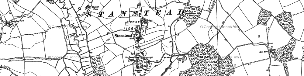Old map of Stanstead in 1884