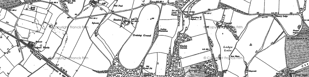 Old map of Aston Coppice in 1881