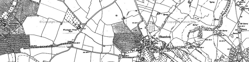 Old map of Stanton in 1883