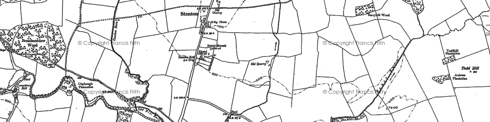 Old map of Stanton in 1896