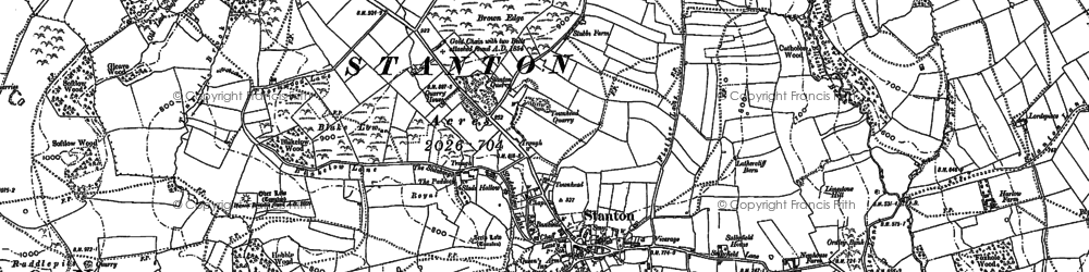 Old map of Wildhay in 1898