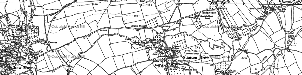 Old map of Stanton Drew in 1882