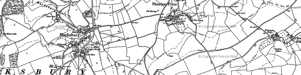 Old map of Winsbury Hill in 1882