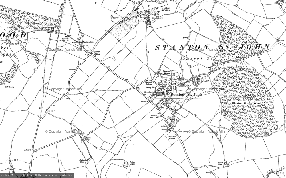 Old Map of Historic Map covering Ashen Copse in 1898