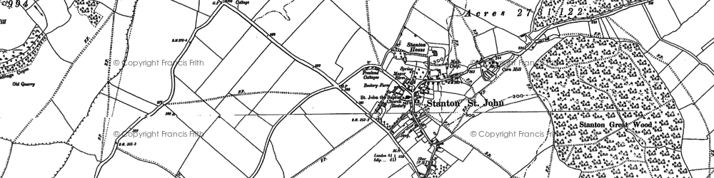 Old map of Ashen Copse in 1898