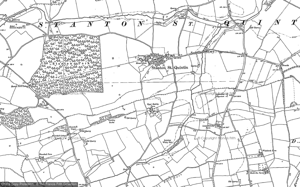 Old Map of Stanton St Quintin, 1899 in 1899