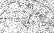 Old Map of Stanton under Bardon, 1883