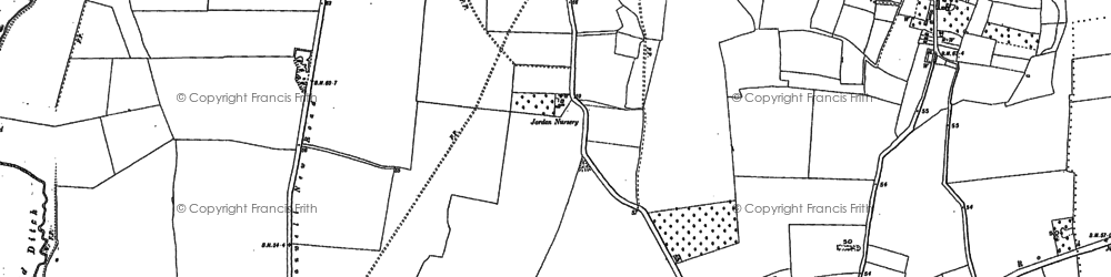Old map of Stanwell in 1912