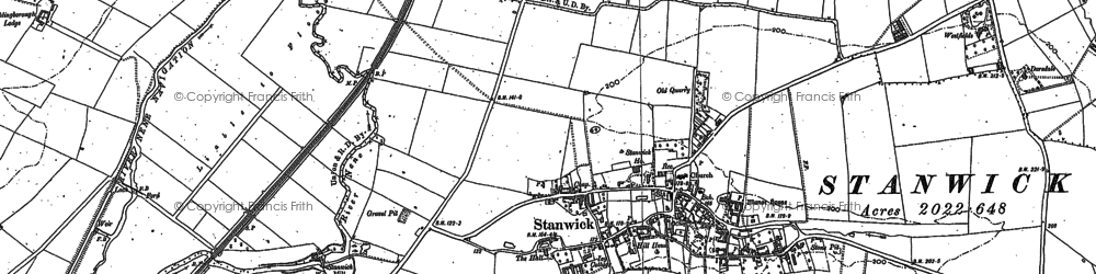 Old map of Stanwick in 1884