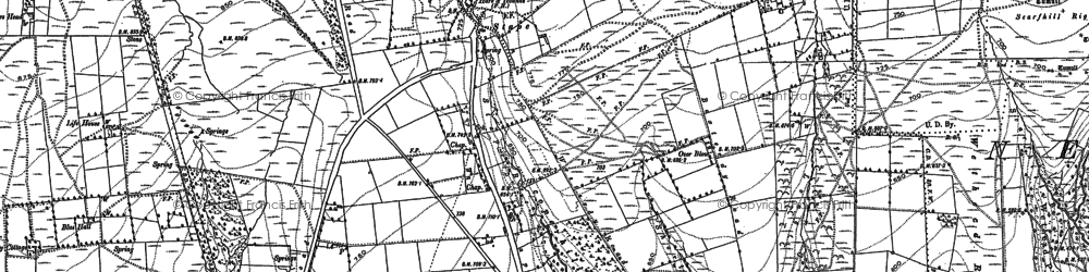 Old map of Yorfalls Wood in 1891