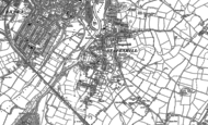 Old Map of Stapenhill, 1882 - 1900
