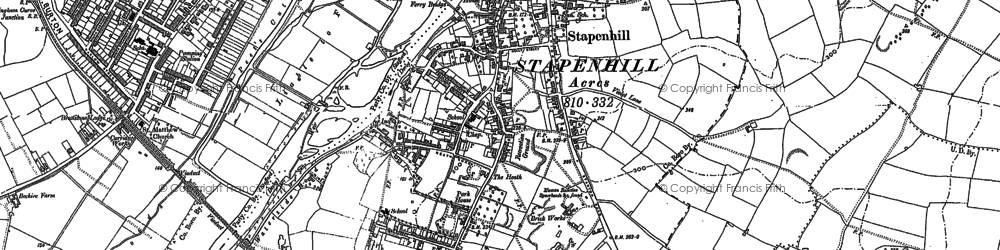 Old map of Stapenhill in 1882