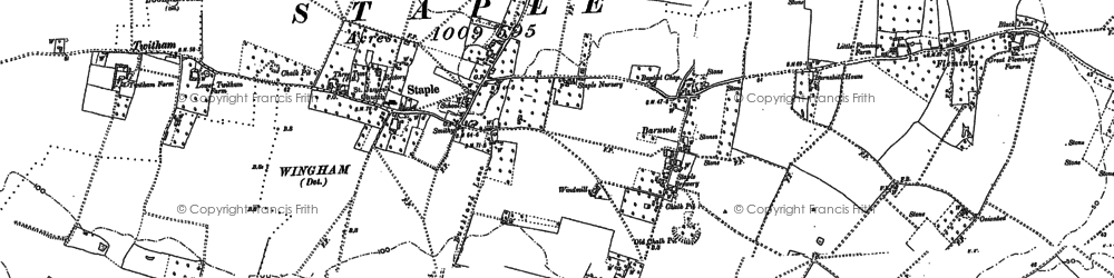 Old map of Staple in 1896