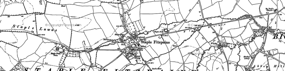 Old map of Whitford in 1886