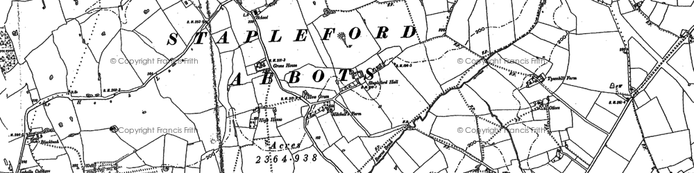 Old map of Albyns in 1895