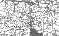 Old Map of Staplehurst, 1896
