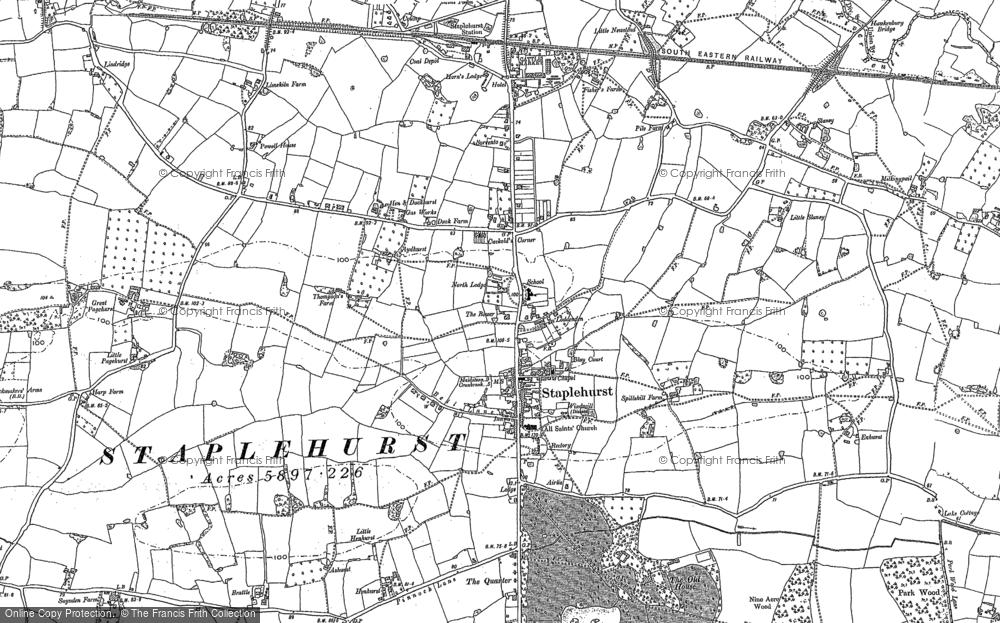 Map of Staplehurst, 1896