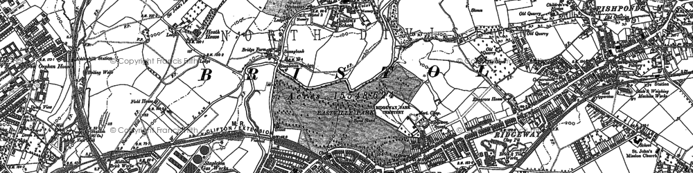 Old map of Broomhill in 1881