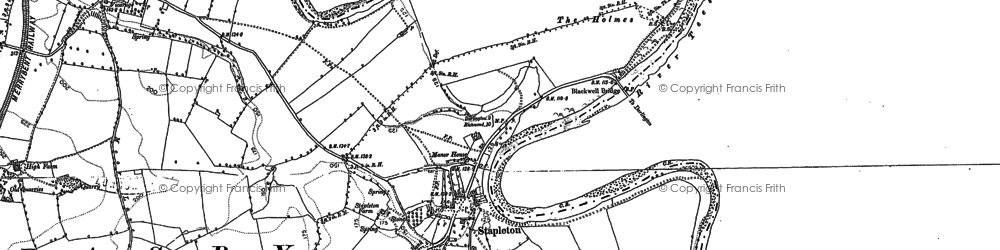 Old map of Stapleton in 1890
