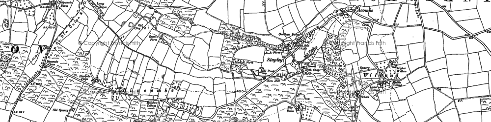 Old map of Willand in 1887