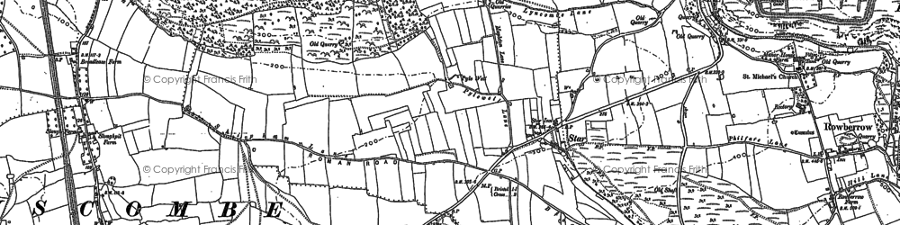 Old map of Wimblestone in 1883