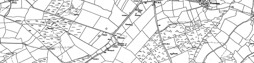 Old map of Hendraburnick in 1882