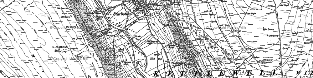 Old map of West Scale Park in 1907