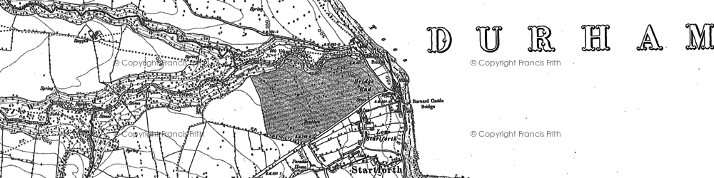 Old map of Startforth in 1912