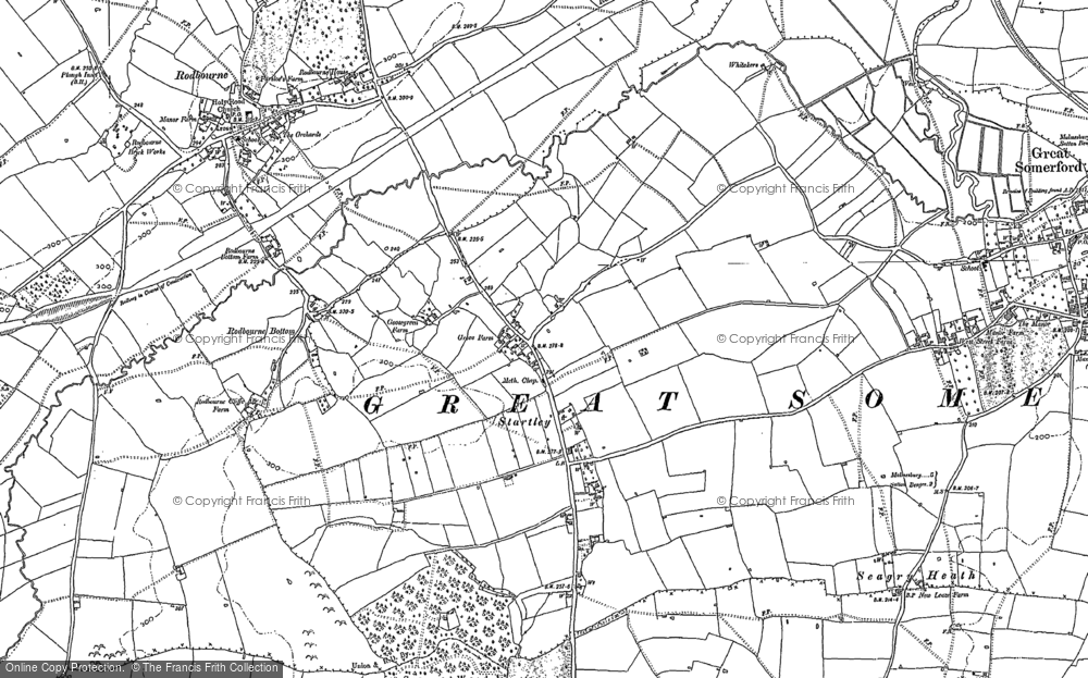 Old Map of Startley, 1899 in 1899