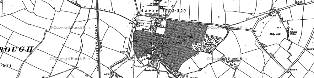 Old map of Woodside in 1887