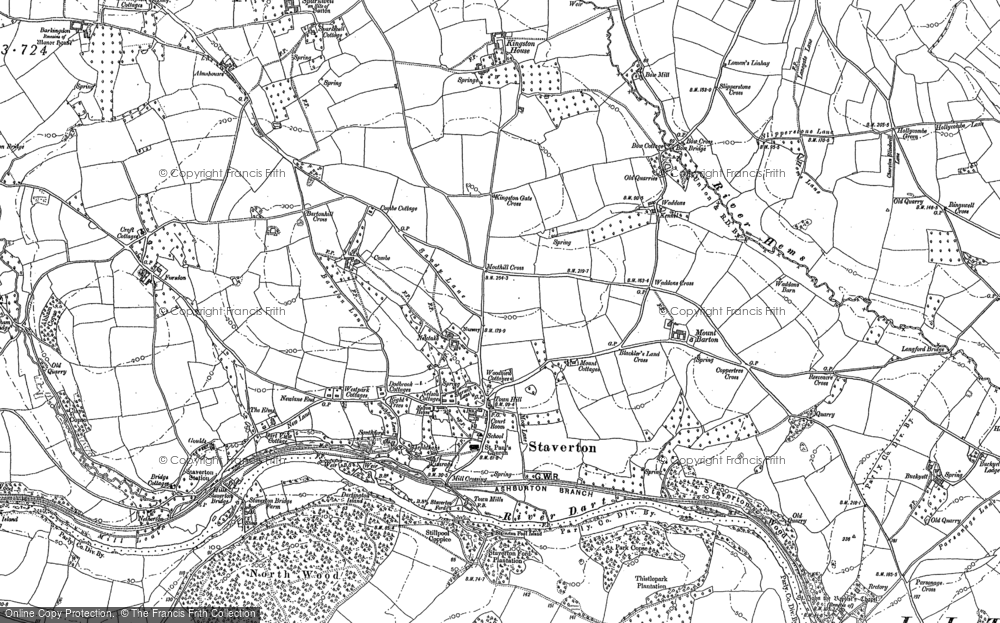 Map of Staverton, 1886 - 1887