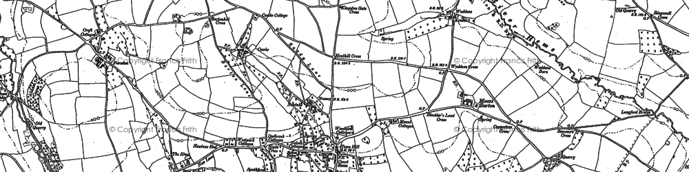 Old map of Staverton in 1886