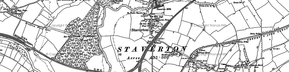 Old map of Widbrook in 1922