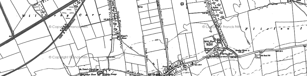 Old map of Willerby in 1889