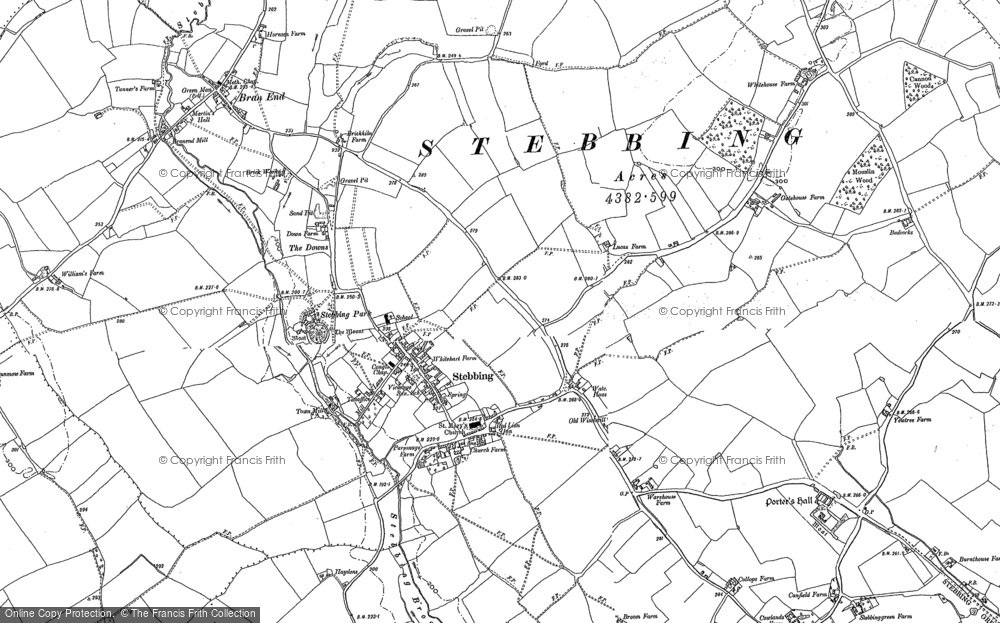 Map of Stebbing, 1886 - 1896