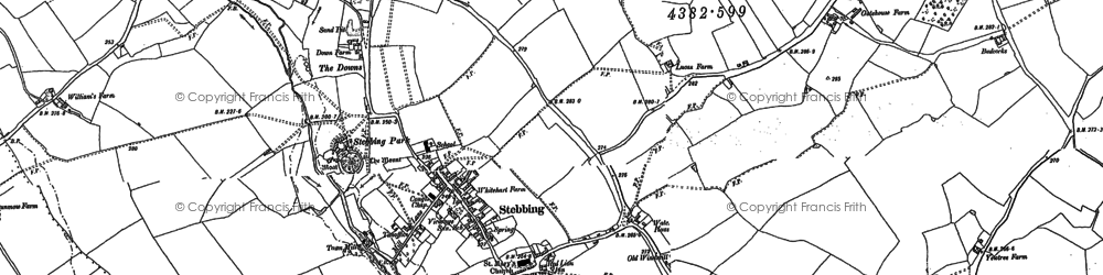 Old map of Stebbing in 1886