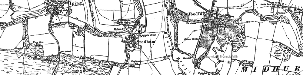Old map of Stedham in 1895