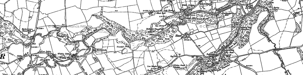 Old map of Whitley Mill in 1895